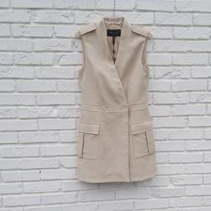 """BCBGMaxazria """"Justin"""" vest jacket in dune"""